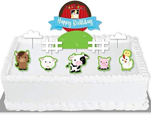Super Amazon Com Big Dot Of Happiness Farm Animals Barnyard Birthday Funny Birthday Cards Online Alyptdamsfinfo