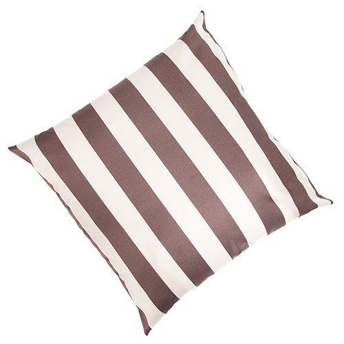 Aura Stripe Ivory / Mink Outdoor Waterproof Garden Scatter Cushion 18