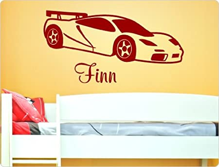 I Love Wandtattoo Apos 11601 Car With Name Wall Sticker Silver 200 Cm X 110 Cm Amazon Co Uk Kitchen Home