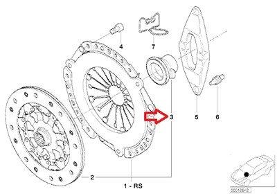 BMW Genuine Clutch Release Bearing for 540i M5 325Ci M3 Z8 545i 645Ci 645Ci Z4 M3.2 Z4 M3.2