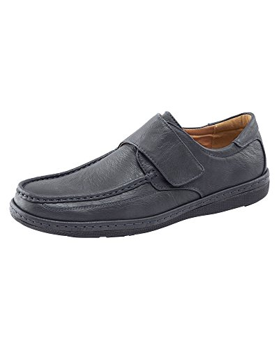 Cotton Traders Mens Comfortable Adjustable Strap Loafers Shoes Moccasins D Fit Navy G3WfnIVM