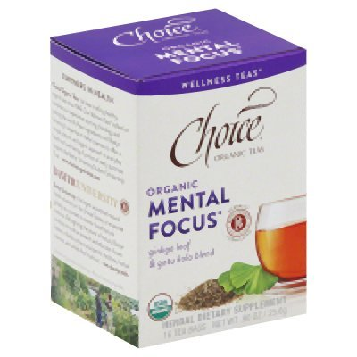 Mental Focus Tea 16 Bags (Case of 6)