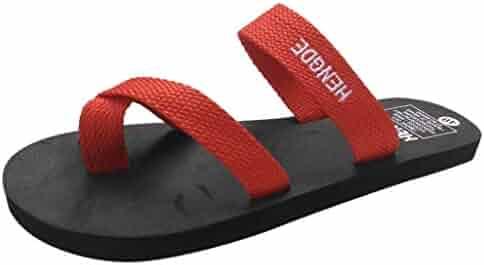 53818447aef9a Bohelly Summer Women s Thong Sandals Unisex Flip-Flops Sports Sandals Summer  Beach Y-Shaped