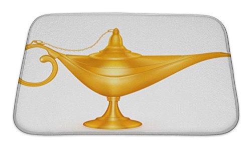 Gear New Bath Mat For Bathroom, Memory Foam Non Slip, Oil Lamp Mesh, 24x17, (Genie Lamps For Sale)