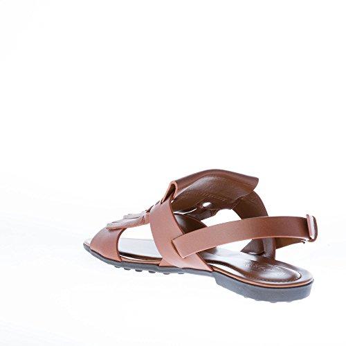 Slingback Marroni Origami Frangia Pelle Tod Con Marrone In Scarpe Sandalo Donne Piatta Di qtn8vT