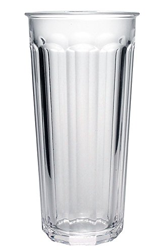 Luminarc Glass Clear (Luminarc Arc International Working Glass Storage Jar/Cooler with White Lid (Set of 4), 24 oz, Clear)
