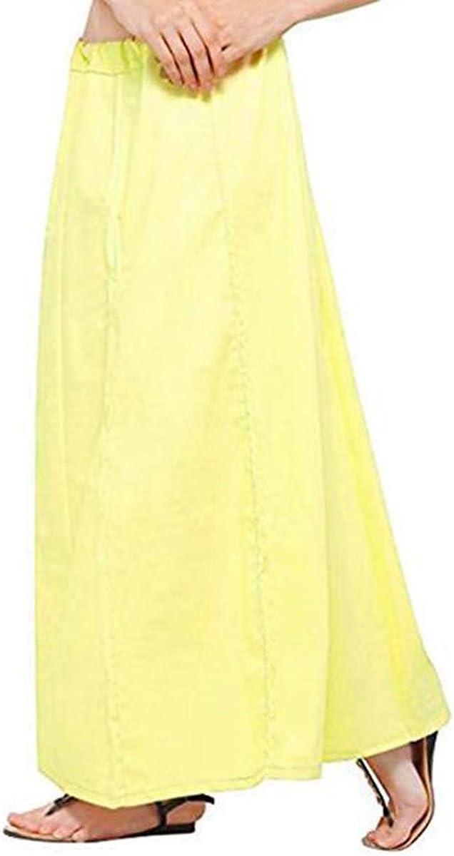 IFH Apparel Falda interior de algodón amarillo lima con diseño ...