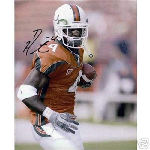 Devin Hester Autographed Signed Auto Miami Hurricanes Orange Jersey 8x10 Photograph - Certified ()