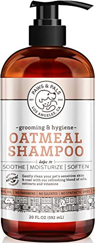 OxGord Natural Oatmeal Dog Puppy Shampoo Conditioner 100 Natural 20 oz- Medicated Clinical Vet Formula Wash For All Pets - Made with Aloe Vera for Relieving Dry Itchy Skin
