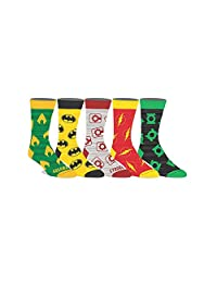 DC Comics Licensed Adult Crew Socks (Various Designs) (Justice League 5)