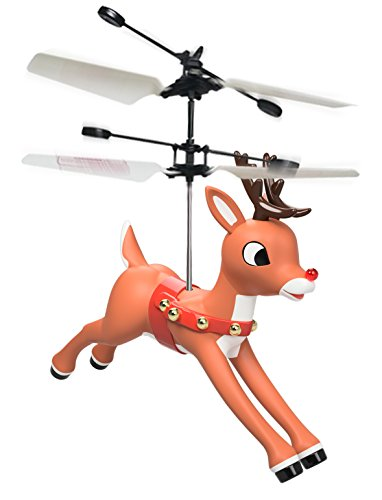 Rudolph the Red Nosed Reindeer Magic Mini Drone Flying Helicopter Toy