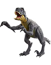 Jurassic World Slash 'N Battle Scorpios Rex Action & Sound Dinosaur Figure Camp Cretaceous with Movable Joints, Slashing & Tail Whip Motions & Roar Sound, Kids Gift Ages 4 Years & Up