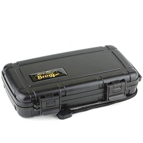 Mrs. Brog Waterproof Travel Cigar Humidor Case - Black - Holds up to 5 Cigars