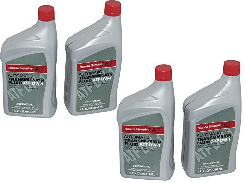 Atf Z1 Transmission Fluid (Honda Genuine 08200-9008 Automatic Transmission Fluid ATF DW-1, 4 Quarts)