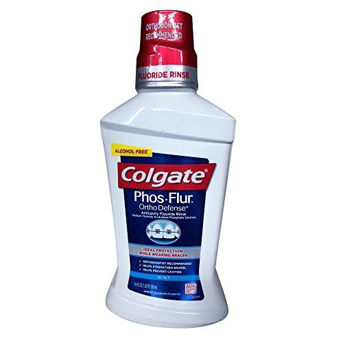 Colgate Phos-Flur Anti-Cavity Fluoride Rinse Mint 16 oz (Pack of 4)