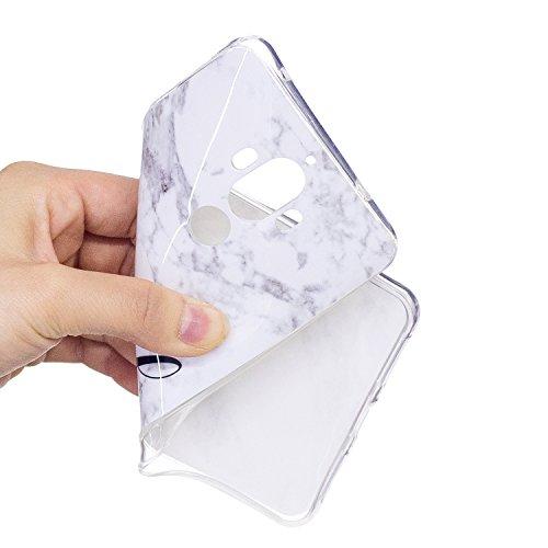 HUAWEI Mate 9 Soft TPU Carcasa Funda, KaseHom mármol Cover Geometría de granito geométrica caso de las iniciales Protectiva Anti-rasguños Caso y [Protector de pantalla gratuito] -8 6