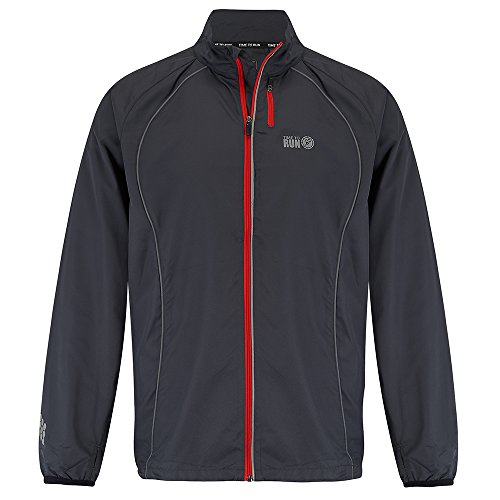Run Jacket - Time To Run Men's Windproof Running Jacket Large 42