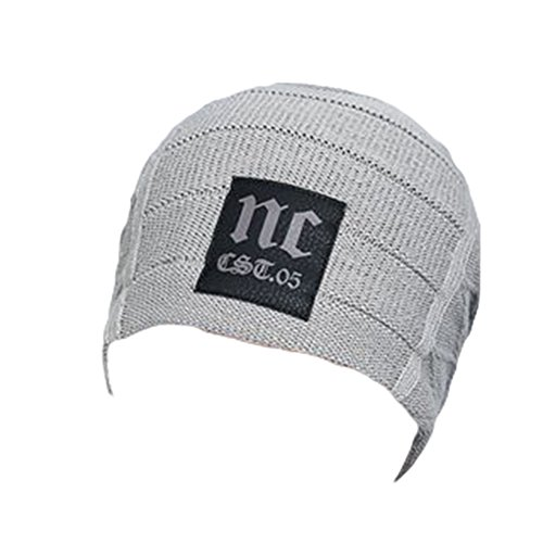 Ukallaite Our Fashion Century - Gorro de Punto de Ganchillo para Hombre, Color Azul Marino, Gris gris