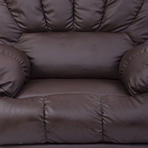 HomCom PU Leather Vibrating Massage Sofa Chair Recliner - Brown