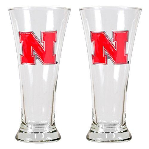 NCAA Nebraska Cornhuskers Two Piece 19-Ounce Pilsner Glass Set