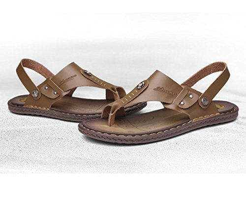 Uomo LEDLFIE da da Pantofole Pinne Sandali Abbinati Slip Brown Uomo con Comfort Pantofole A YwYZrx0F
