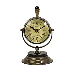 Imax 60082 Soren Brass Table Clock and Compass