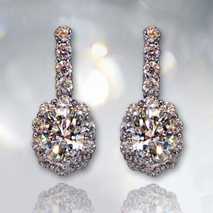 Austrian Crystal Simulate - 480 original Austrian crystal earrings simulate carat diamond earrings jewelry earrings