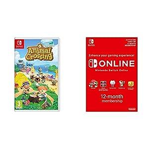 Animal Crossing New Horizons – Nintendo Switch Standard Edition + Nintendo Switch Online Membership – 12 Months | Switch…