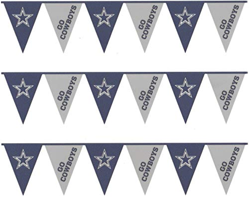 Dallas Cowboys Logo Football NFL Pennants Edible Cake Topper Image Strips ABPID07917 -