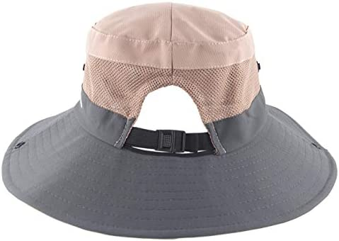 Womens Ponytail Bucket Hat Outdoor UV Protection Foldable Mesh Wide Brim Beach Fishing Hat KPWIN Sun Hats for Women