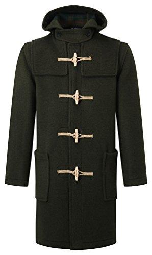 Mens Wooden Olive Classic Duffle Coat Toggles Fit rwcYr6qpI
