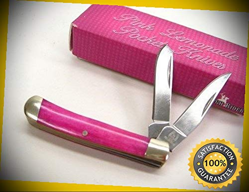 Pink Smooth Bone Tiny Trapper 2 Blade Folding Pocket Sharp Knife 839 perfect for outdoor camping hunting