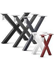 HOLZBRINK Tischkufen X-Form aus Vierkantprofilen, x-förmiges Tischgestell, HLT-03
