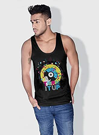 Creo Turn It Up Trendy Tanks Tops For Men - S, Black