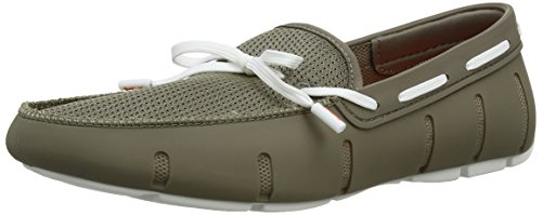 SwimsLace - Mocasines hombre Gris - Grey (Khaki/White)