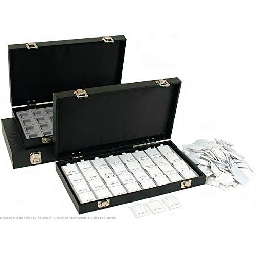 100 White 14K Gold Puff Earring Cards Display Case Box ()