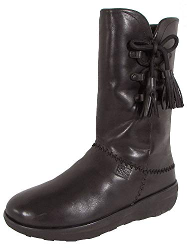 - FitFlop Womens Mukluk High Boot with Tassels Shoes, All Black, US 6