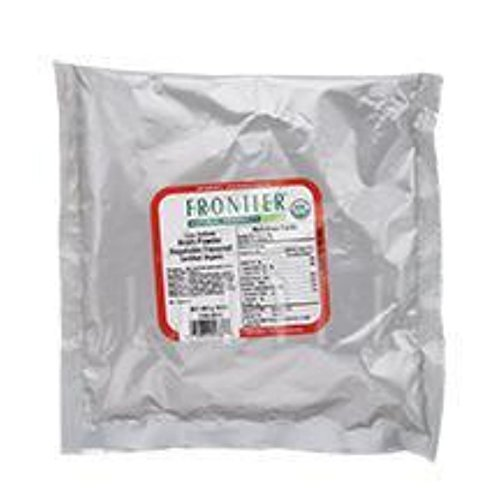 Frontier Bulk Broth Powder Vegetable Low Sodium Certified Organic # (Pack of 9) by Frontier