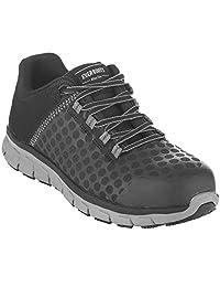 EVER BOOTS - Zapatos de seguridad para hombre con puntera de acero, para trabajo industrial y de construcción, antideslizantes, ligeros