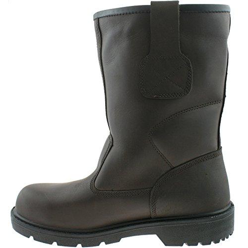 Grafters–Zapatos de Industrial impermeable Seguridad Botas Marrón - marrón