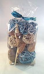 Jodhpuri Inc. Decorative Spheres (Blue) Rattan Vase Filler