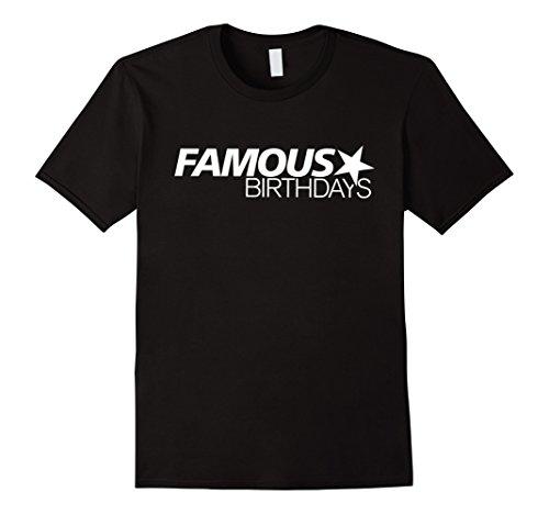 Mens Famous Birthdays White Logo T Shirt 2Xl Black