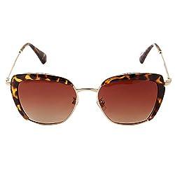 Pession Unisex Classic Matel Half Frame Square Sunglasses- UV400
