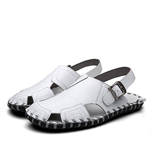 Miyoopark , Sandales Compensées homme - blanc - blanc,