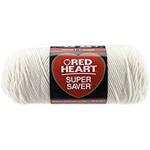 Coats: Yarn Red Heart E300.0316 Super Saver Economy Yarn, Soft White