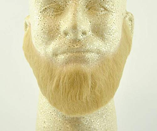 Full Character Beard BLONDE - 100% Human Hair - no. 2024 - REALISTIC! Perfect for Theater and Stage - Reusable! -