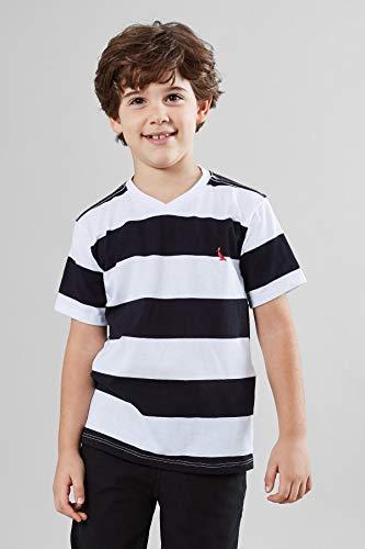 Camiseta Mini Sm Basica Listrao