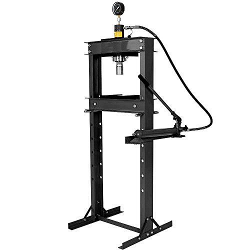 Hydraulic Press Shop 20 Ton (Wimmer 20 Ton Shop Press with Hand Pump Pressure Gauge H-Frame Hydraulic Equipment 41