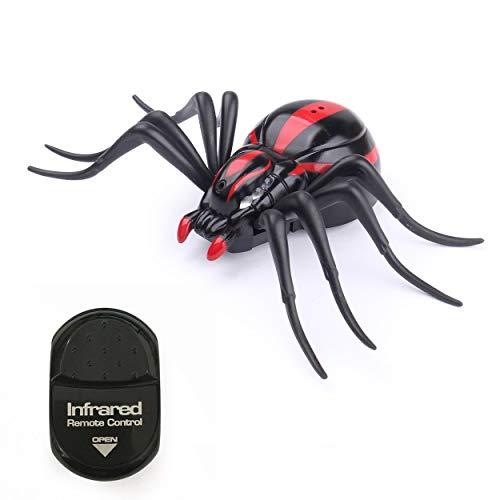 Control Remoto por Infrarrojos Fake Spider Araña RC Insectos Insectos para Broma Scary Truco Juguete Kid Regalo de Halloween...