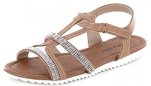 Pep Step 1004723 Mädchen Sandalette 3Taupe